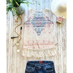 Voice of California crochet boho hippie tank top